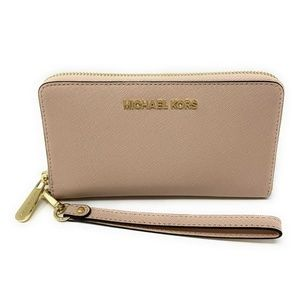 Michael Kors Jet Set Travel Large Wallet Ballet